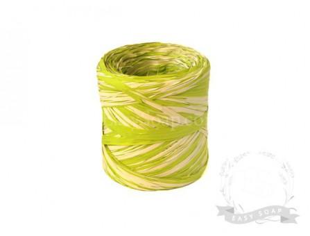 Лента рафия светло-зеленый/бежевый