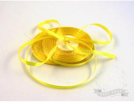 Лента атласная желтый 6 мм