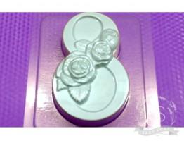 """Форма пластиковая для мыла """"8 Марта"""" розы"""