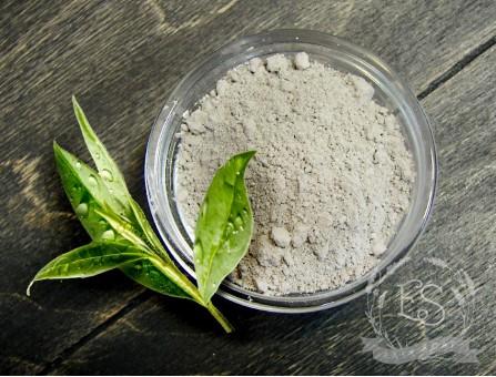 Глина голубая косметическая с зеленым чаем