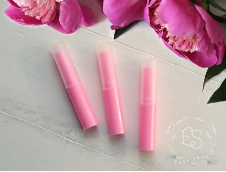 Туба для помады высокая ярко-розовая