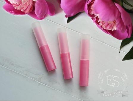 Туба для помады высокая темно-розовая