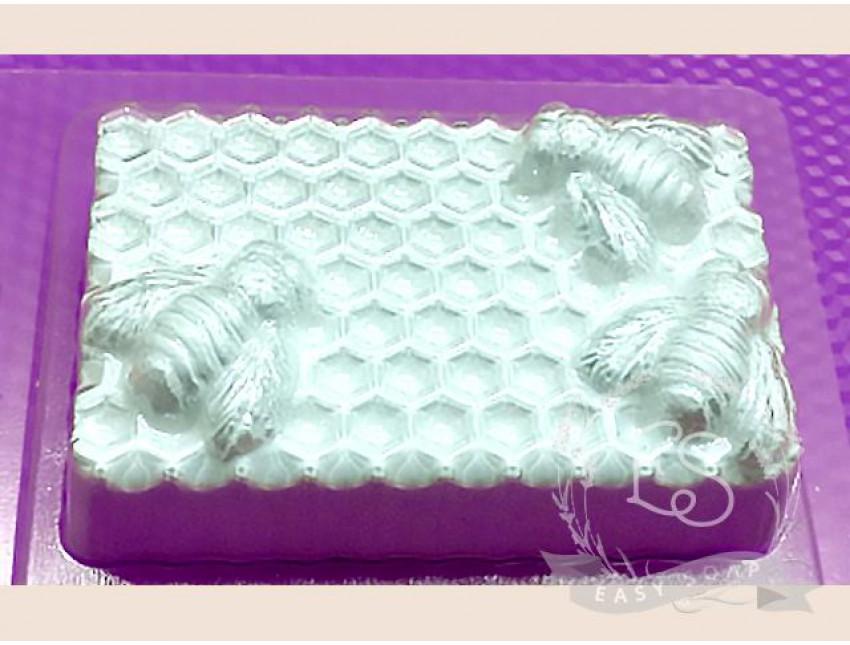 "Форма пластиковая для мыла ""Пчелы на сотах"""