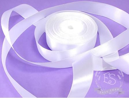 Лента атласная белый 25 мм
