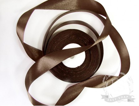 Лента атласная горький шоколад 25 мм