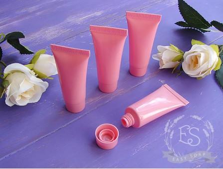 Туба 10 мл розовая закрутка