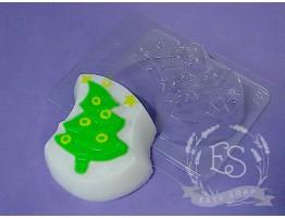 """Форма пластиковая для мыла """"Рождественская елка"""""""